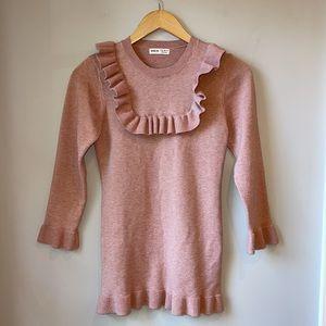 SHEIN Ruffle Trim Pink Sweater/Dress 11-12 Yrs